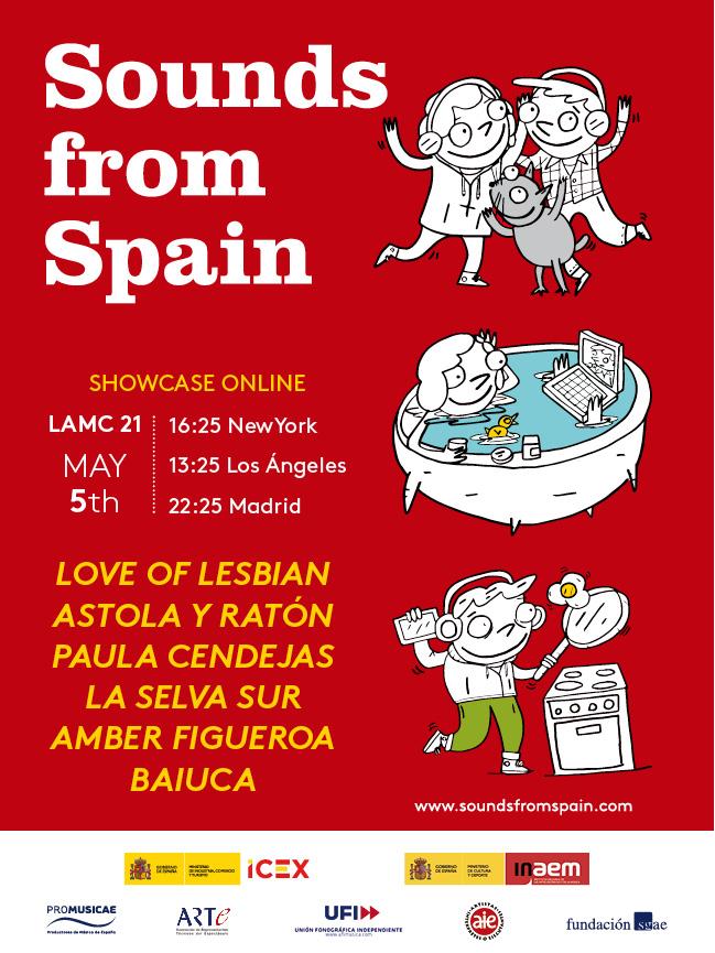 Seis bandas españolas conforman el concierto virtual Sounds from Spain en LAMC