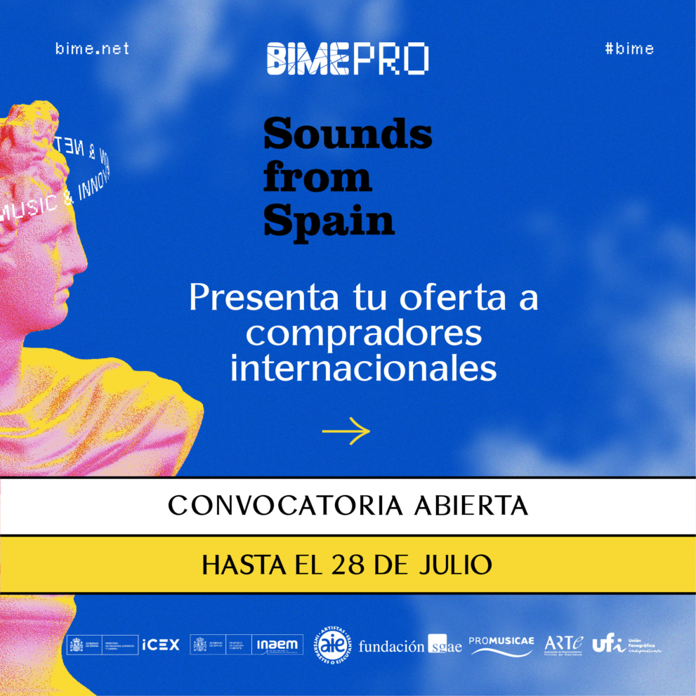 Sounds From Spain - Convocatoria Encuentro empresarial y showcase de Sounds from Spain en BIME 2021