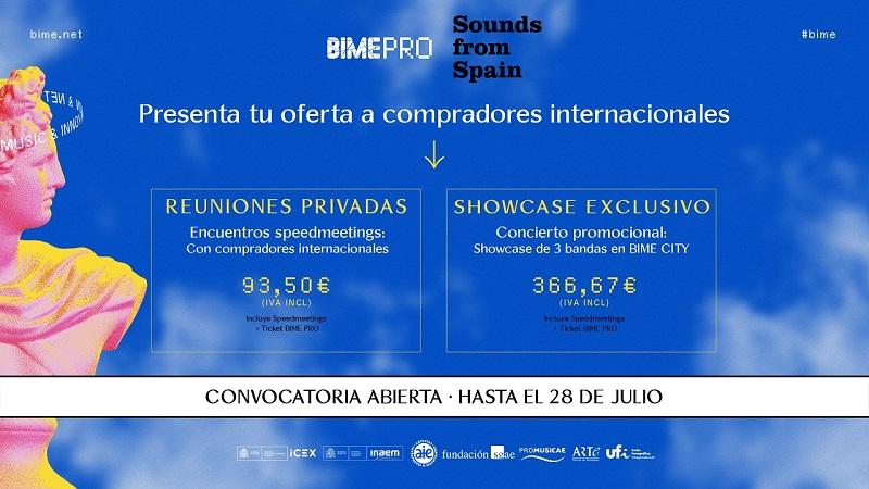 ABIERTA CONVOCATORIA ENCUENTRO EMPRESARIAL Y SHOWCASE DE SOUNDS FROM SPAIN EN BIME 2021