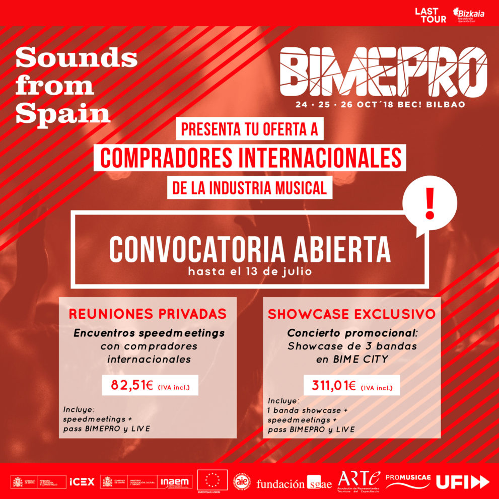 Sounds From Spain - CONVOCATORIA ENCUENTRO PROFESIONAL EN BIME 2018