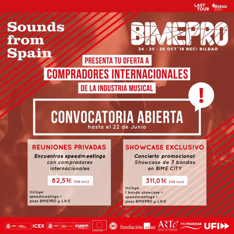 Sounds From Spain - CONVOCATORIA ENCUENTRO PROFESIONAL EN BIME 2018