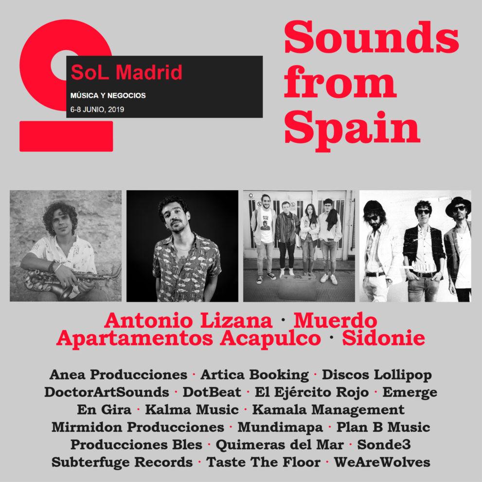 19 empresas y 4 artistas participan en SoL Madrid gracias al apoyo de Sounds from Spain