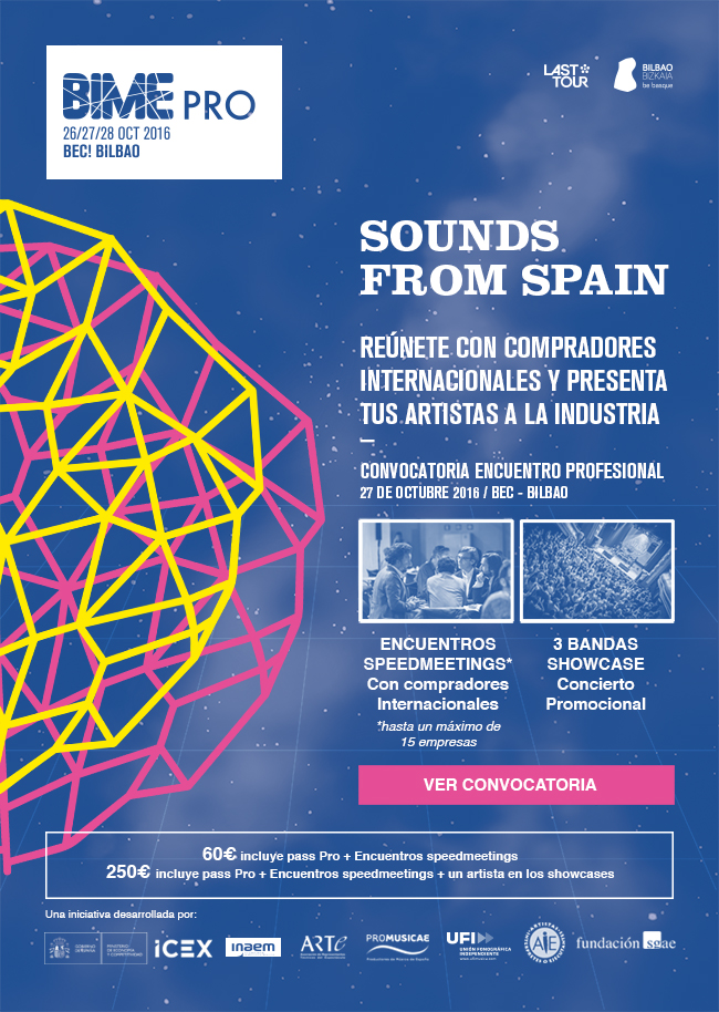 Sounds From Spain - Call for participation BIME 2016